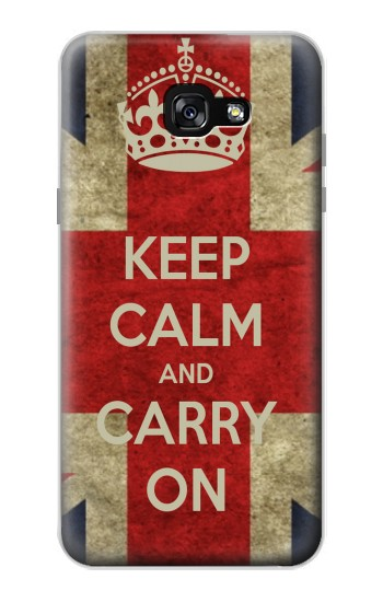 Printed Keep Calm and Carry On Samsung Galaxy A7 (2017) Case