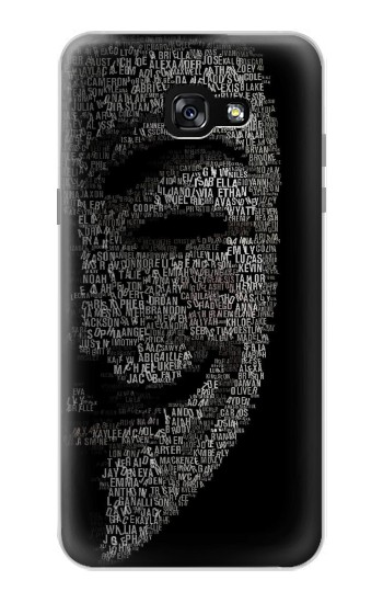 Printed V Mask Guy Fawkes Anonymous Samsung Galaxy A7 (2017) Case