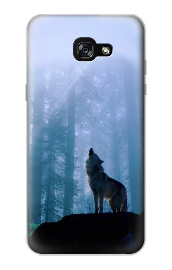 Printed Wolf Howling in Forest Samsung Galaxy A7 (2017) Case