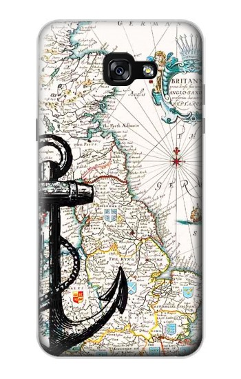 Printed Nautical Chart Samsung Galaxy A7 (2017) Case