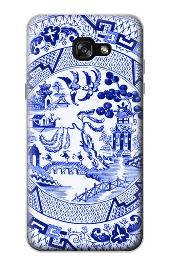 Printed Willow Pattern Illustration Samsung Galaxy A7 (2017) Case