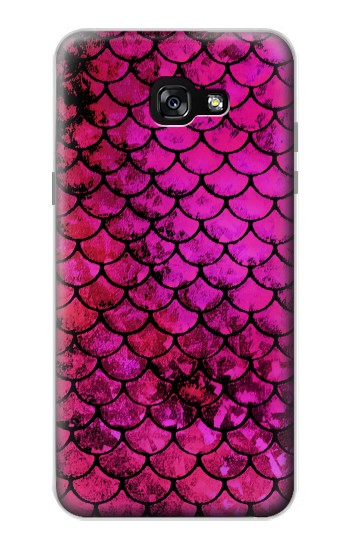 Printed Pink Mermaid Fish Scale Samsung Galaxy A7 (2017) Case