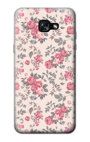 Printed Vintage Rose Pattern Samsung Galaxy A7 (2017) Case