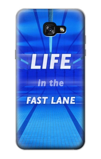 Printed Life in the Fast Lane Swimming Pool Samsung Galaxy A7 (2017) Case