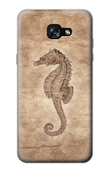 Printed Seahorse Old Paper Samsung Galaxy A7 (2017) Case