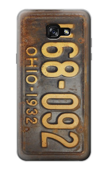 Printed Vintage Car License Plate Samsung Galaxy A7 (2017) Case