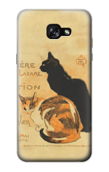 Printed Vintage Cat Poster Samsung Galaxy A7 (2017) Case