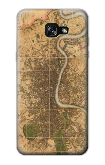 Printed Vintage Map of London Samsung Galaxy A7 (2017) Case