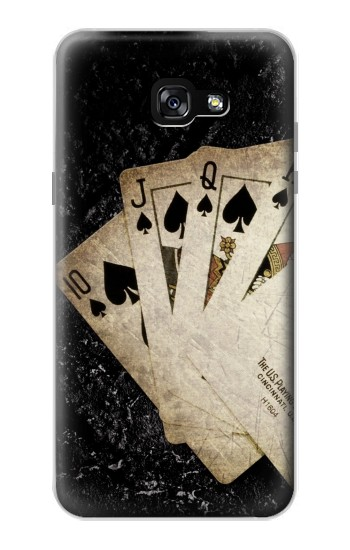 Printed Vintage Royal Straight Flush Cards Samsung Galaxy A7 (2017) Case