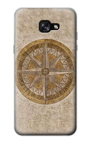 Printed Windrose Circle Stamp Samsung Galaxy A7 (2017) Case