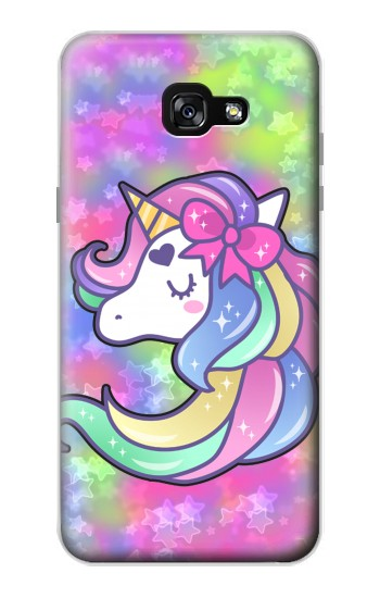 Printed Pastel Unicorn Samsung Galaxy A7 (2017) Case