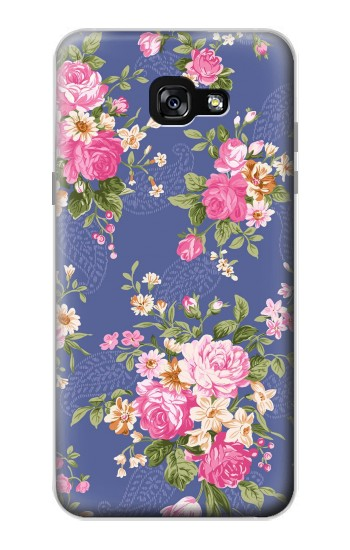 Printed Vintage Flower Pattern Samsung Galaxy A7 (2017) Case