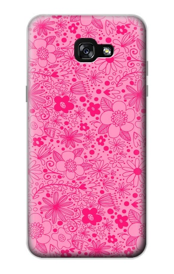 Printed Pink Flower Pattern Samsung Galaxy A7 (2017) Case