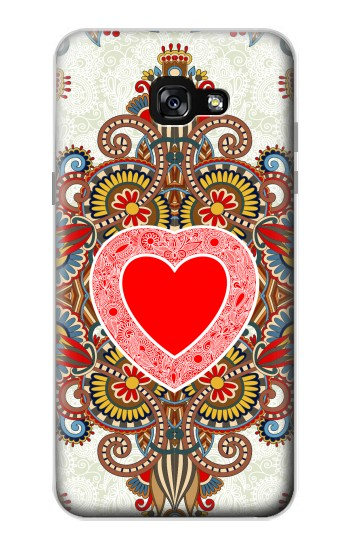Printed Heart Pattern Line Art Samsung Galaxy A7 (2017) Case