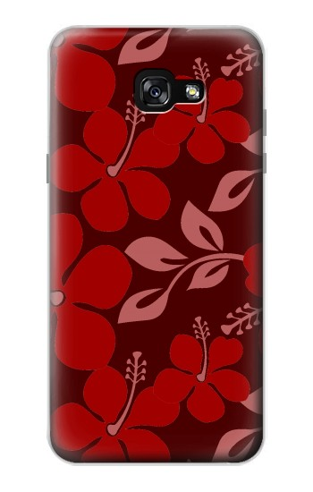 Printed Hawaii Dark Red Pattern Samsung Galaxy A7 (2017) Case