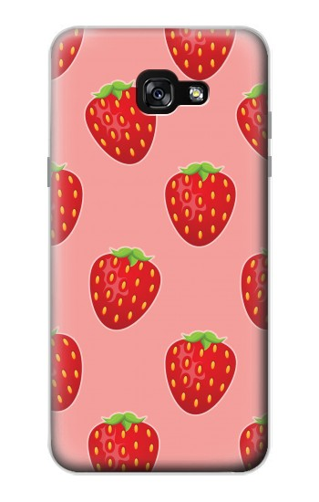 Printed Strawberry Fruit Pattern Samsung Galaxy A7 (2017) Case
