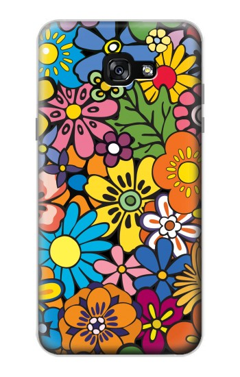 Printed Colorful Flowers Pattern Samsung Galaxy A7 (2017) Case