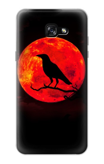 Printed Crow Red Moon Samsung Galaxy A7 (2017) Case