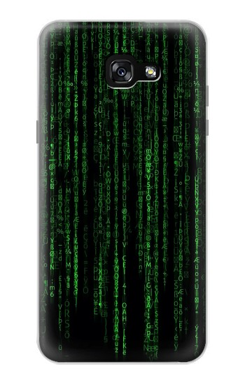 Printed Binary Code Samsung Galaxy A7 (2017) Case