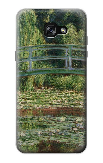 Printed Claude Monet Footbridge and Water Lily Pool Samsung Galaxy A7 (2017) Case