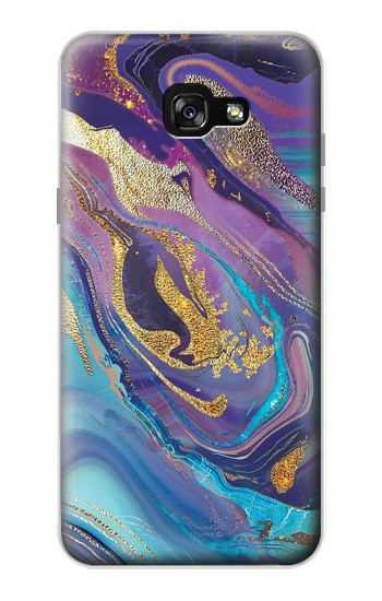 Printed Colorful Abstract Marble Stone Samsung Galaxy A7 (2017) Case