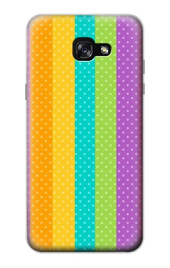 Printed Colorful Rainbow Vertical Samsung Galaxy A7 (2017) Case