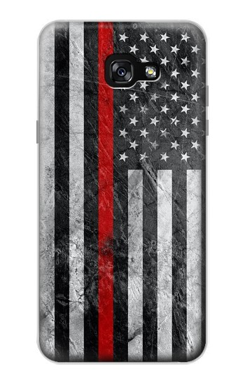Printed Firefighter Thin Red Line American Flag Samsung Galaxy A7 (2017) Case