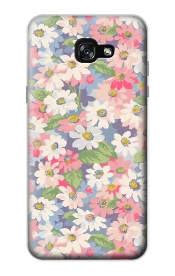 Printed Floral Flower Art Pattern Samsung Galaxy A7 (2017) Case