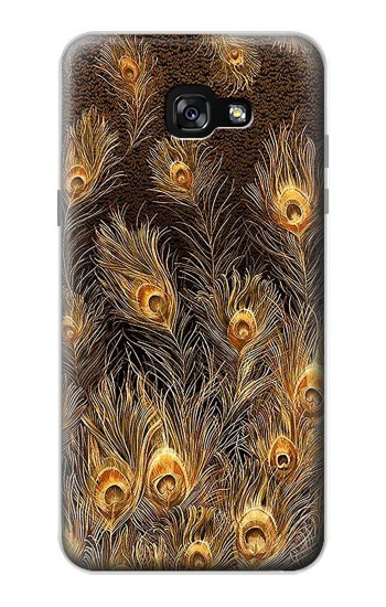 Printed Gold Peacock Feather Samsung Galaxy A7 (2017) Case