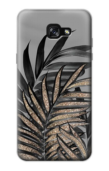 Printed Gray Black Palm Leaves Samsung Galaxy A7 (2017) Case