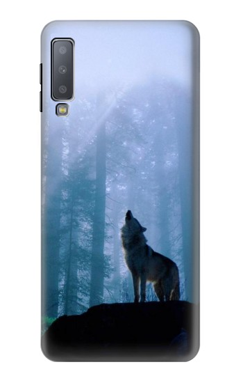 Printed Wolf Howling in Forest Samsung Galaxy A7 (2018) Case