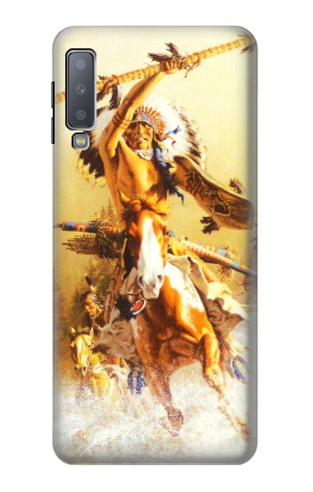 Printed Red Indian Warrior Samsung Galaxy A7 (2018) Case