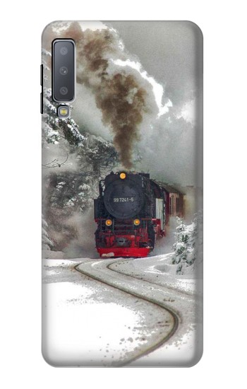 Printed Steam Train Samsung Galaxy A7 (2018) Case