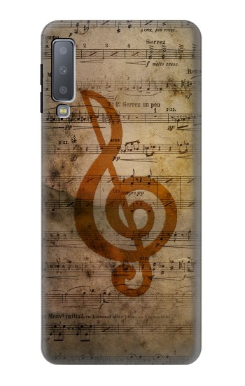 Printed Sheet Music Notes Samsung Galaxy A7 (2018) Case