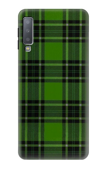Printed Tartan Green Pattern Samsung Galaxy A7 (2018) Case