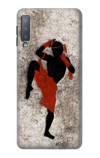 Printed Muay Thai Fight Boxing Samsung Galaxy A7 (2018) Case