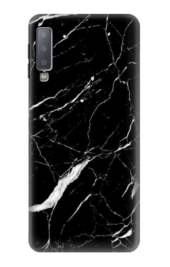 Printed Black Marble Graphic Printed Samsung Galaxy A7 (2018) Case