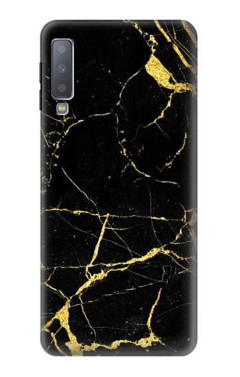 Printed Gold Marble Graphic Printed Samsung Galaxy A7 (2018) Case