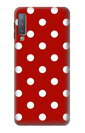 Printed Red Polka Dots Samsung Galaxy A7 (2018) Case