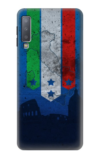 Printed Italy Football Flag Samsung Galaxy A7 (2018) Case