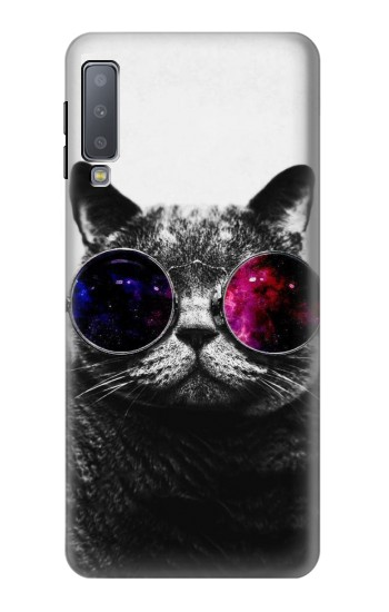 Printed Cool Cat Glasses Samsung Galaxy A7 (2018) Case