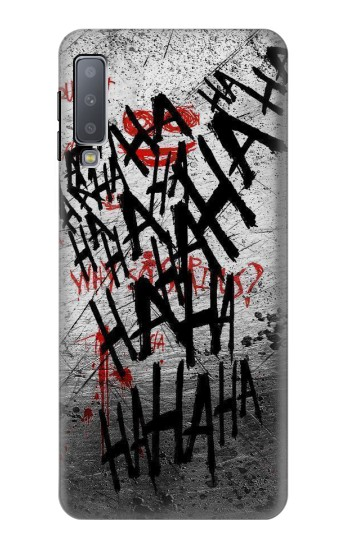 Printed Joker Hahaha Blood Splash Samsung Galaxy A7 (2018) Case