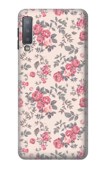 Printed Vintage Rose Pattern Samsung Galaxy A7 (2018) Case