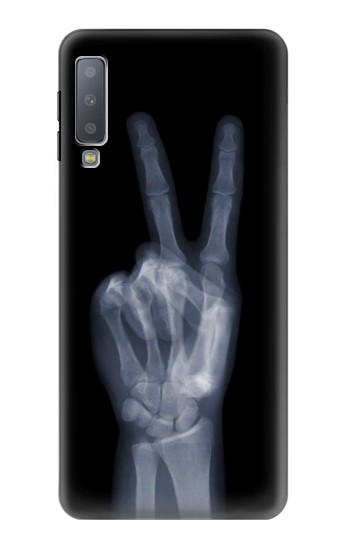 Printed X-ray Peace Finger Samsung Galaxy A7 (2018) Case