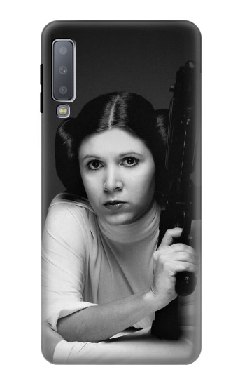 Printed Princess Leia Carrie Fisher Samsung Galaxy A7 (2018) Case