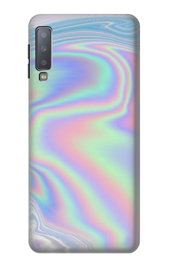 Printed Pastel Holographic Photo Printed Samsung Galaxy A7 (2018) Case