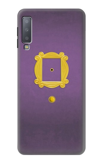 Printed Friends Purple Door Minimalist Samsung Galaxy A7 (2018) Case