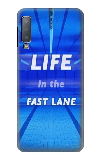 Printed Life in the Fast Lane Swimming Pool Samsung Galaxy A7 (2018) Case