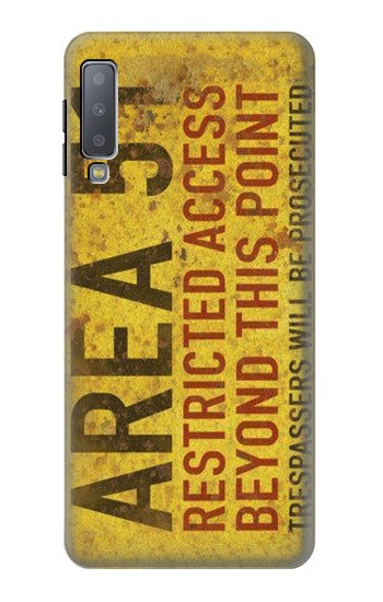 Printed Area 51 Restricted Access Warning Sign Samsung Galaxy A7 (2018) Case