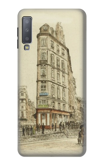 Printed Boulevards of Paris Samsung Galaxy A7 (2018) Case